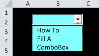 How to Fill Comboboxes (DropDowns) In Userforms or Worksheets - BOTH WAYS! Excel VBA Is Fun