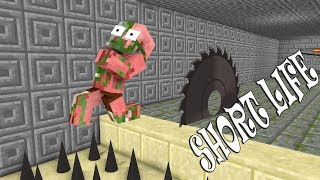 Monster School : SHORT LIFE CHALLENGE - Minecraft Animation thumbnail