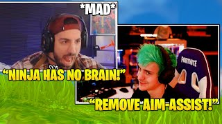 Nickmercs ROASTS & *MAD* At Ninja For Requesting Aim-Assist To Be REMOVED! (Fortnite FUNNY Moments!) thumbnail