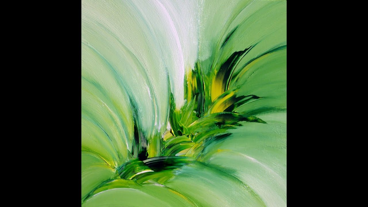 green explosion  abstract painting  acrylic  abstrakte
