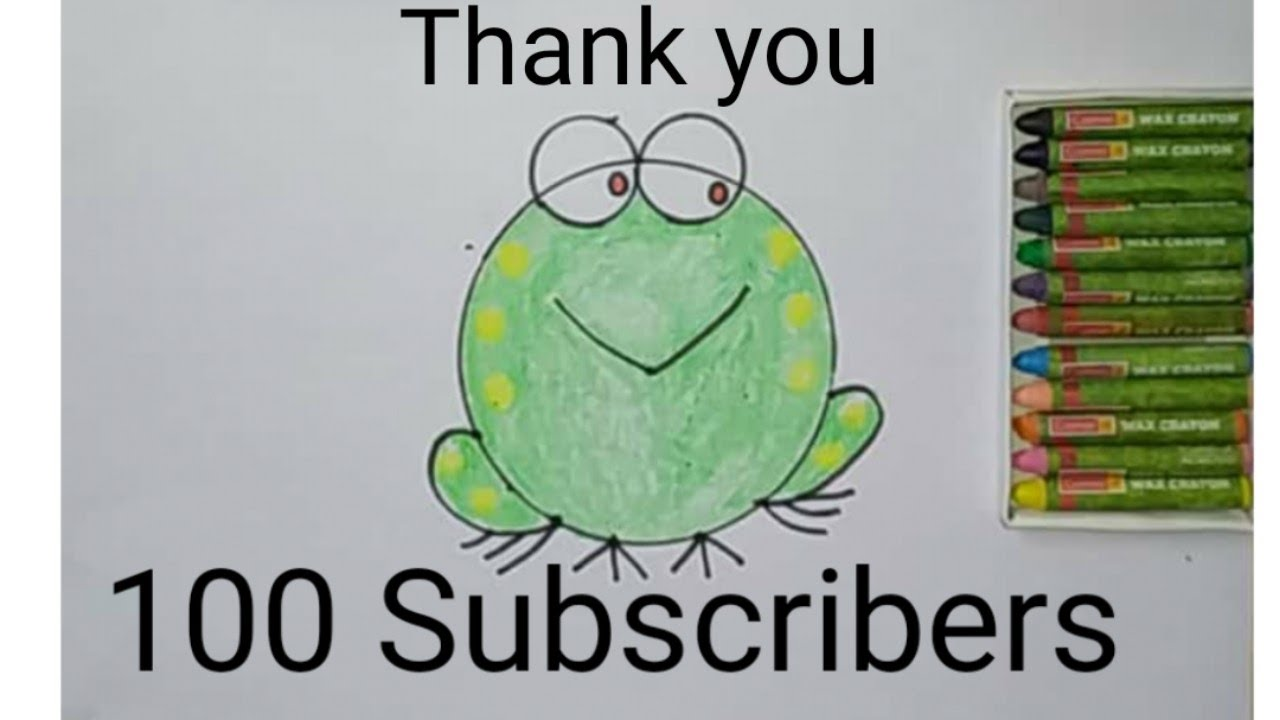 How to draw a Frog very very easy for kids - YouTube