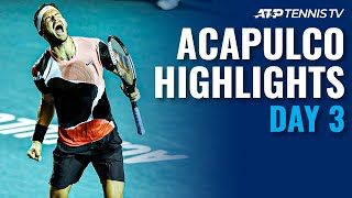 Dimitrov Escapes; Nadal Tested, Zverev Stunned | Acapulco 2020 Day 3 Highlights