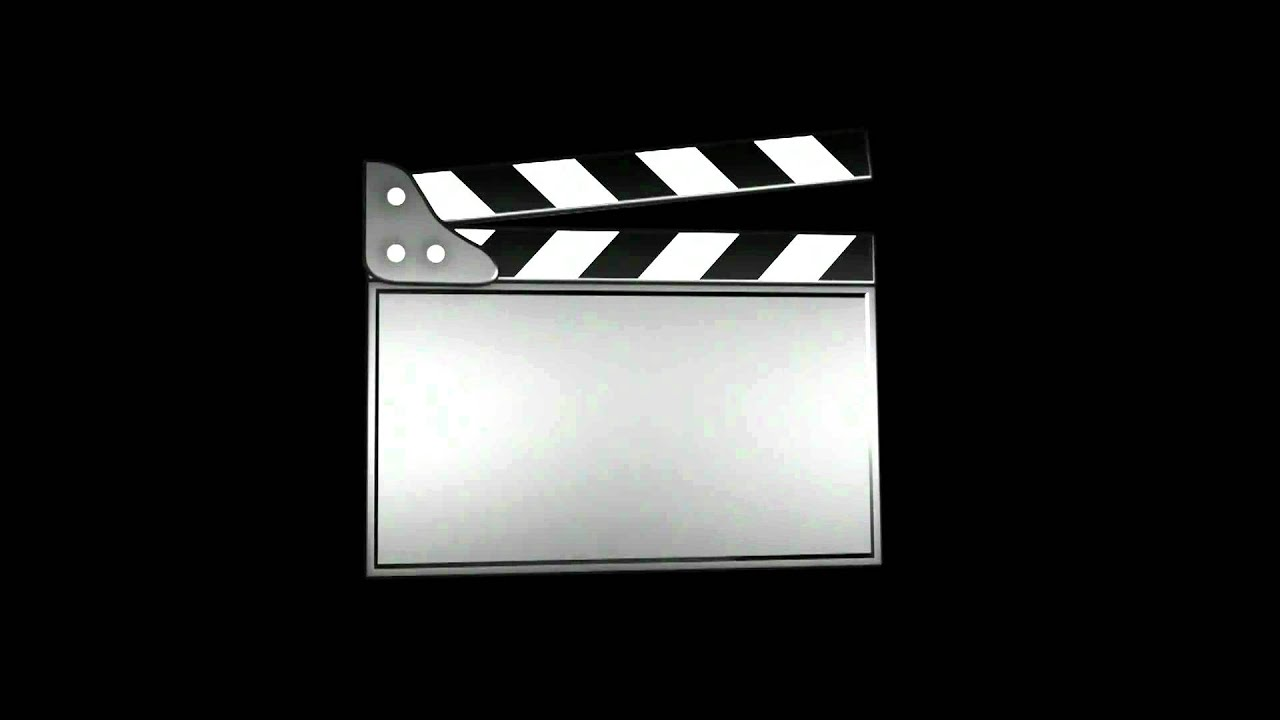 movie clapper animation youtube. Black Bedroom Furniture Sets. Home Design Ideas