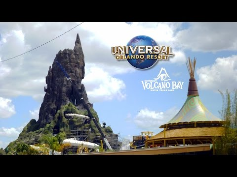 Volcano Bay Construction Update: Wave Pool Testing, Slide Testing, New Scenery, Trees & More