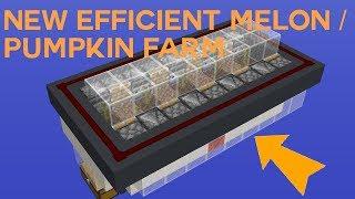Simple and Efficient Melon and Pumpkin Farm 1.13.2  Mumbo Jumbo Tutorial
