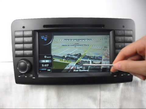 mercedes benz ml w164 dvd player gps navigation tv. Black Bedroom Furniture Sets. Home Design Ideas