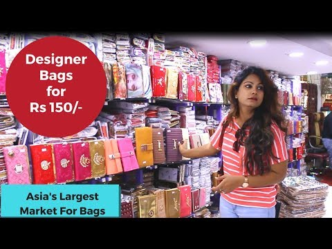 Wholesale Bags Market | Handbags Starting At Rs 75 | Nabi Karim Market |Old Delhi Shopping