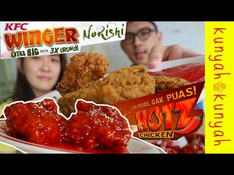 NYOBAIN MENU BARU KFC WINGER NORISHI + PEDASNYA HOTZ ...