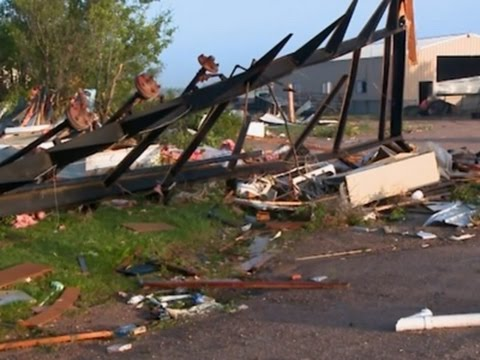 Residents Survey Tornado Damage in Kansas