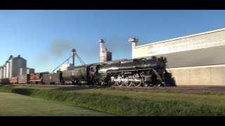 (HD) Awesome Drone Video of 261 Steam Engine with Great Sound!