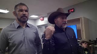Encontro entre Adriano Moraes e Rodrigo Minotauro em Las Vegas