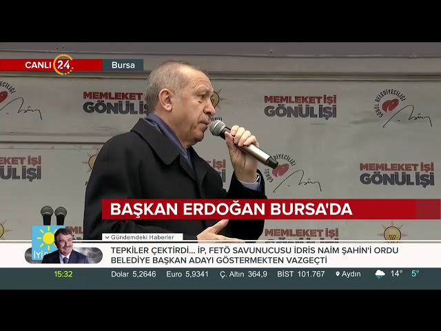 Erdoğan'dan Bursa'da Zaman şiiri