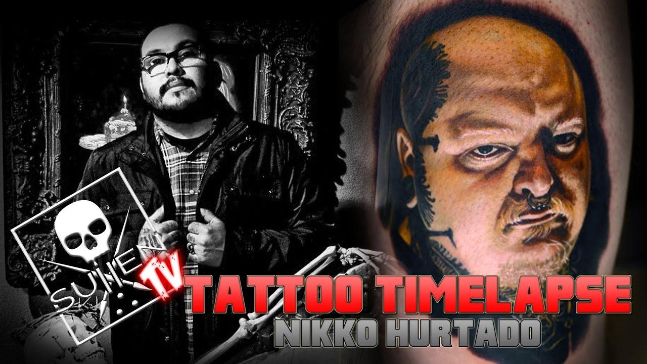 Tattoo Time Lapse  Nikko Hurtado Tattoos Realistic Color Portrait Of