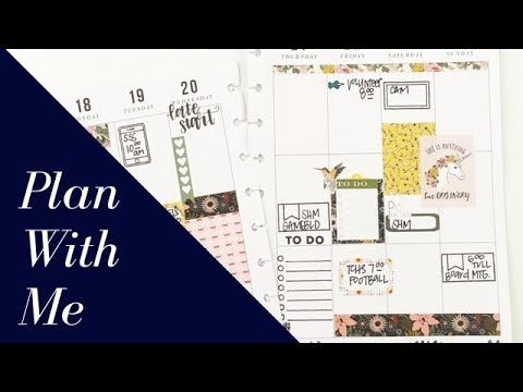 Plan With Me: September 18-24, 2017 [Create 365 Happy Planner® + The Planner Society stamps]
