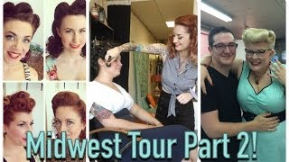 pinup hair and makeup midwest tour part 2 with cherry dollface