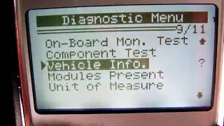 Konnwei KW820 OBD II code reader scan tool menue capture