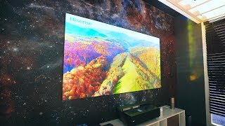 "BEST 4K TV's of 2018! - 150"" 4K LASER TV from Hisense + Budget Options!"