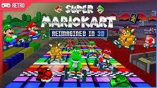 Super Mario Kart (1992) Reimagined in 3D graphics!