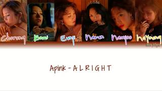 Apink  에이핑크  - A L R I G H T Lyrics  Han|rom|eng|color Coded
