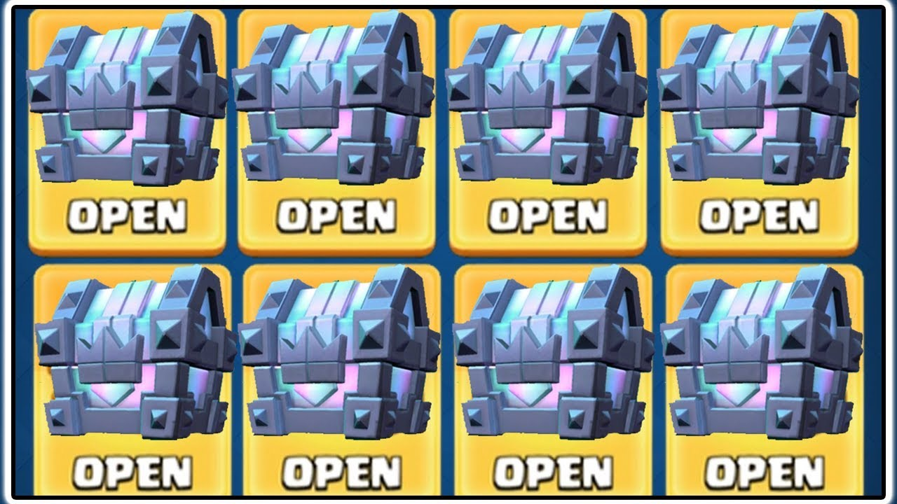 8 LEGENDARY KINGS CHEST OPENING | CLASH ROYALE | 8 LEGENDARY CARDS!
