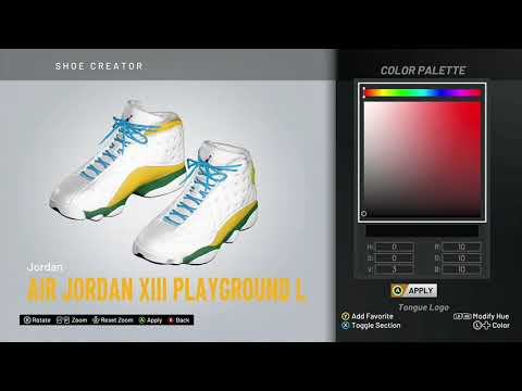 "NBA 2K20 Shoe Creator - Air Jordan 13 ""Playground"" (Left Shoe)"