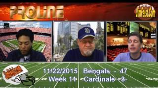 Bengals/Cardinals NFL Week 11 Betting Preview + Free Pick, Nov. 22, 2015