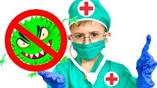 Руслан показывает что нужно делать чтобы не заболеть. Правила поведения для детей | Ромарики
