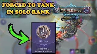 When I Am Forced To Tank In Solo Rank...   Mobile Legends