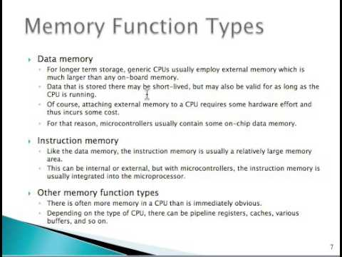 Memory for embedded systems Lesson 2