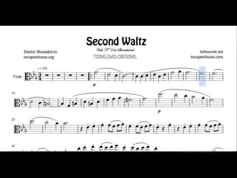 Second Waltz De Shostakovich Partitura De Viola