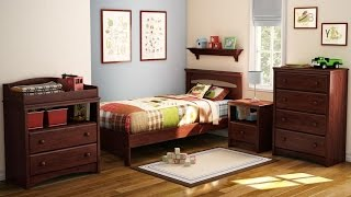 South Shore Sweet Morning Twin Bed For Children In Royal Cherry Finish Designed With Maximum Safety