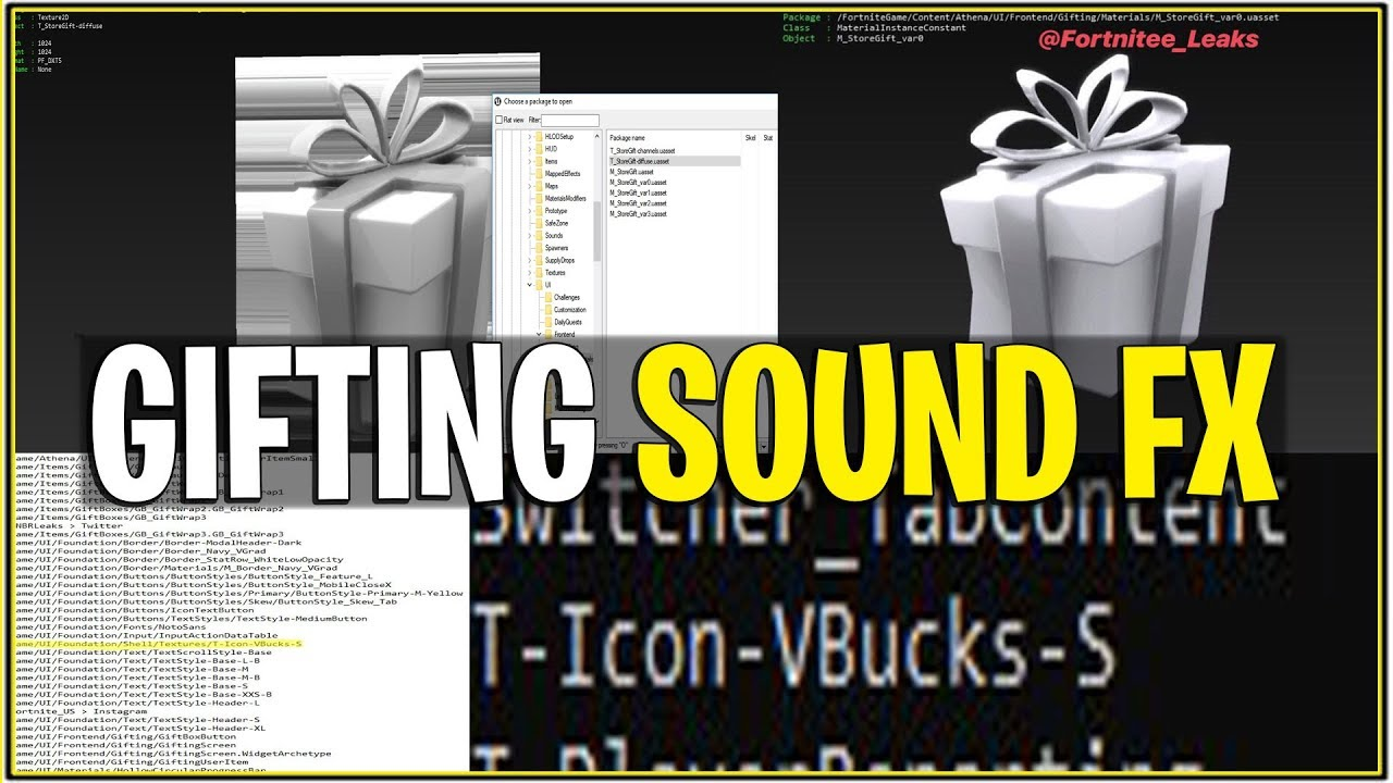 *NEW* Fortnite: LEAKED GIFTING OPTIONS SOUND FX! | (What ...