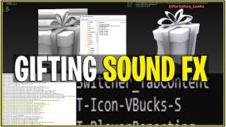 *NEW* Fortnite: LEAKED GIFTING OPTIONS SOUND FX! | (What you can Gift, Receive, and More!)