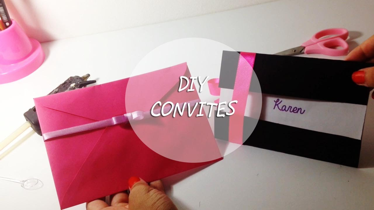 DIY (Dica): Convite simples || How-to Party Invitations - clipzui.com