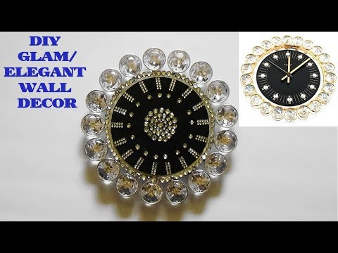 GLAM DIY DOLLAR TREE CRAFT STORE WALL DECOR/ROOM DECOR