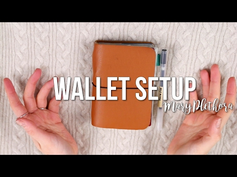 Passport Travelers Notebook Wallet Setup // MaryPlethora