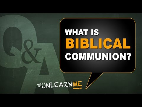 What is Biblical Communion? Are communion and Passover the same? - #unlearnme