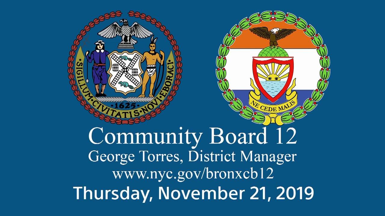 Bronx Community Board 12 Meeting   Bronx Currents
