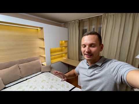 Шкаф кровать и маленькая квартира, дизайн интерьера (Обзор 1)