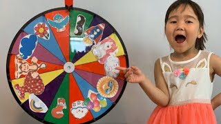 Teach your kids English with Spinning wheels children board game | Semra's Life Vlog