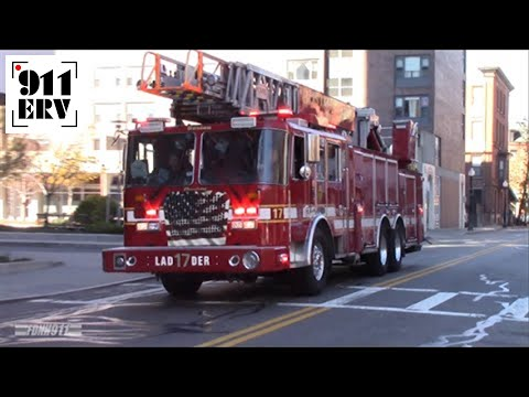 Boston Fire Department Rescue 1, Ladder 3 Spare, and