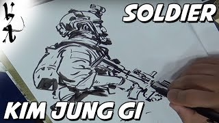Kim Jung Gi drawing a Soldier