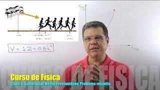 Aceleración media e instantánea. Curso de Física - Clase 6