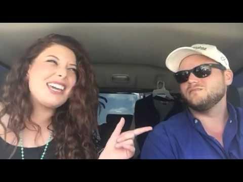 Couple's road trip karaoke!