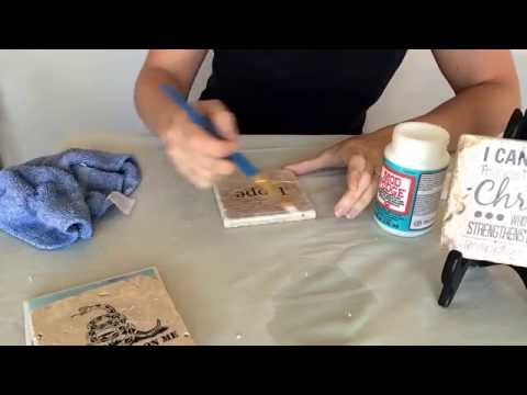 How to image transfer onto stone tile