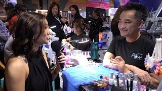 Aora Holographic Chrome and GEP Nails with Mr. Trang Nguyen at ISSE Long Beach 2017