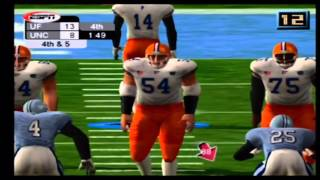NCAA College Football 2K3 Florida vs North Carolina Part 4