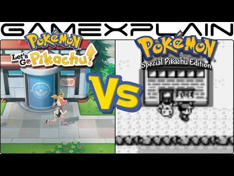 Pokémon Let's Go, Pikachu & Eevee vs. Pokémon Yellow - Graphics Comparison (Switch vs Game Boy)