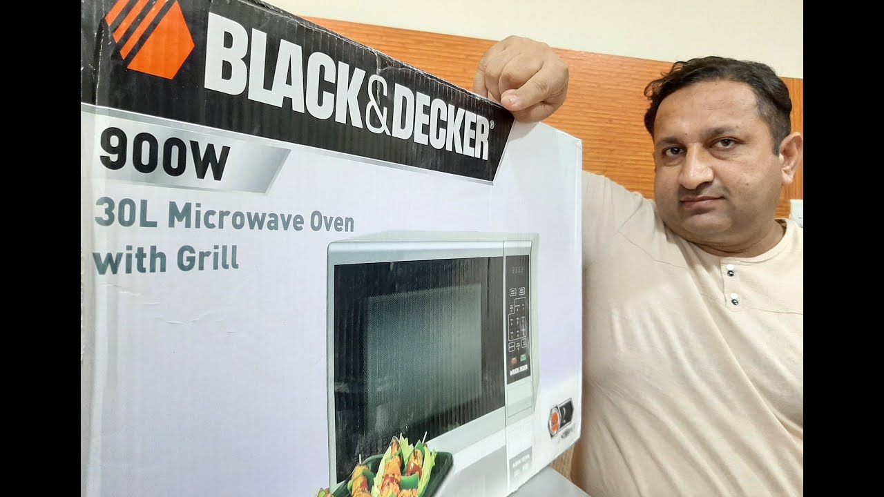 microwave oven grill black decker best in less price unboxing