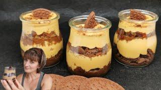 Postre en 10 minutos con muy pocos ingredientes | Chocotorta en vasitos receta fácil